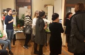 Justyna, Susanne, Agatha und Gäste der Ausstellung